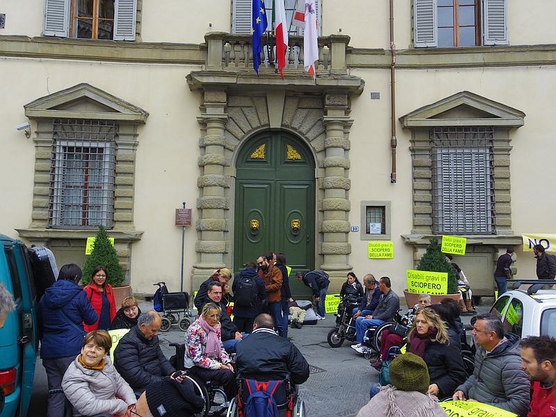 Immagine della protesta in Consiglio Regionale