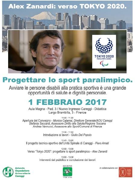 """volantino evento """"Progettare lo sport paralimpico"""""""