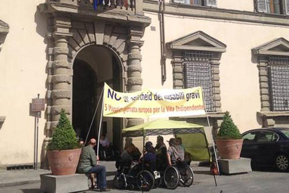 protesta dei disabili e il problema dell'isee
