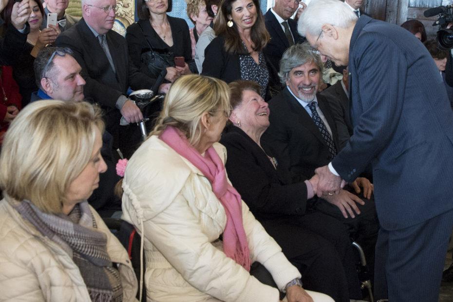 una delegazione del FAIP con in prima linea esponenti dell'associazione toscana paraplegici incontra il Presidente della Repubblica Sergio Mattarella