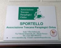 cartello dello sportello all'unità spinale