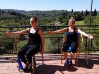ginnastica da casa con Tamara e Claudia