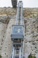 Ascensore Acropoli di Atene in funzione